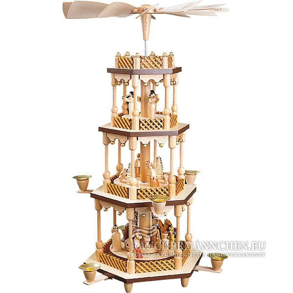 3 stock weihnachtspyramide christi geburt online shop g nstig kaufen richard gl sser 01373. Black Bedroom Furniture Sets. Home Design Ideas