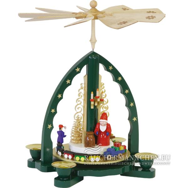 gr n weihnachtspyramide weihnachtsmann online shop g nstig. Black Bedroom Furniture Sets. Home Design Ideas