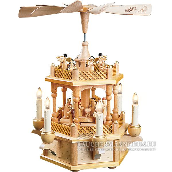 1 stock elektrische weihnachtspyramide christi geburt. Black Bedroom Furniture Sets. Home Design Ideas