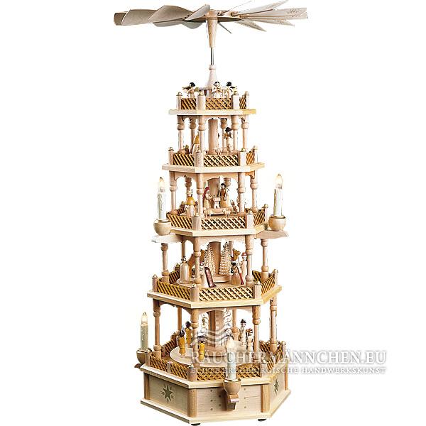 4 stock elektrische weihnachtspyramide christi geburt online shop g nstig kaufen richard gl sser. Black Bedroom Furniture Sets. Home Design Ideas